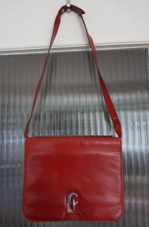 Original Christian Dior Vintage Handtasche Leder rot