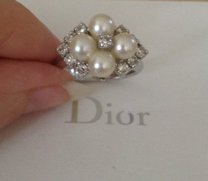 Original Christian Dior Vintage Perlen Ring