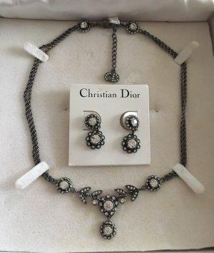 Original Christian Dior Vintage Schmuckset Collier/Kette + Ohrringe