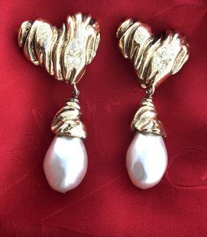 Original Christian Lacroix Paris Designer Ohrclipse Perlen signiert