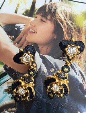 Original Christian Lacroix Paris Designer Ohrclipse signiert earrings