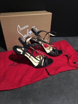 Christian Louboutin High Heel Sandal silver-colored-black