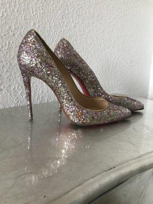 Christian Louboutin Tacco alto color oro rosa-argento
