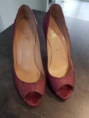 Original Christian Louboutin Schuhe heels 39 Python