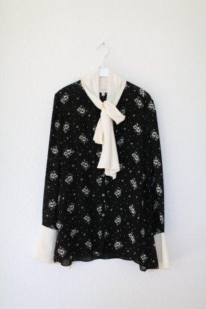 Original Cinq A Sept Bluse 100% Seide Vintage Look Blumen