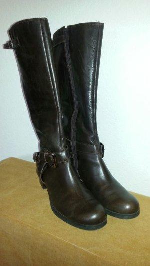 Clarks Jackboots dark brown leather