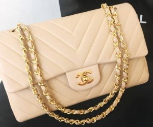 Original classic chanel flap chevron 25cm