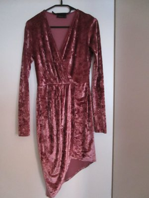 Original Club L Velvet Dress Asymetrisch 8 / 36 V Auschnitt like Shirin David