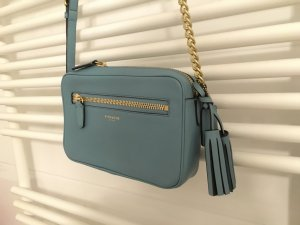 Original Coach Crossbody Leder babyblau