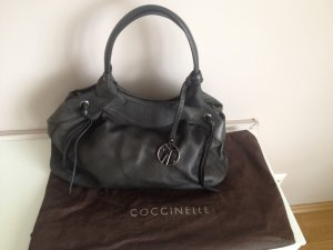 Original Cocccinelle Handtasche aus Leder in Schwarz