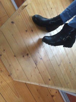 Original Cox Leder Boots mit Schnallen
