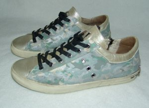 Original Crime Sneaker Camouflage/gold Gr. 39 Used Optic