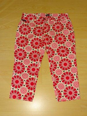 Original D&G 3/4 Hose mit Blumenprint pink/weiß/schwarz (NP: 280€)