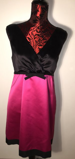 Original D&G Dolce Gabbana Kleid aus Seide Pink Schwarz