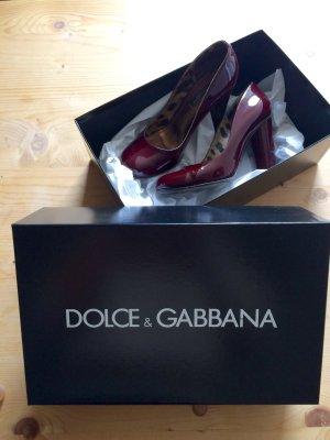 Original D&G DOLCE & GABBANA Lackpumps, gr37