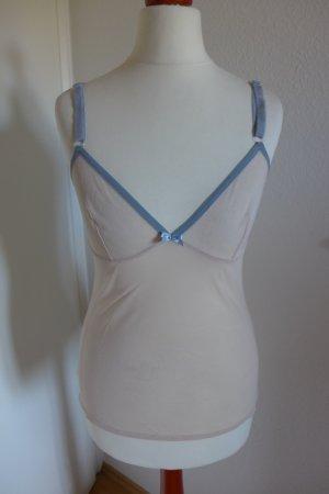 Original D&G Dolce & Gabbana Top Unterhemd nude Gr 36/38 wie neu