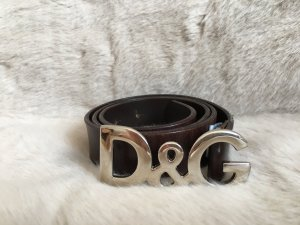 Dolce & Gabbana Leather Belt brown leather