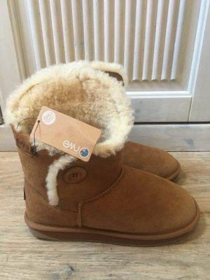 Original Damen Stiefeletten Schuhe EMU Melba Chestnut Boots Wollfutter Neu mit Etikett Gr 39