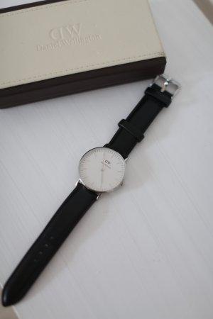 Original Daniel Wellington Uhr Sheffield Schwarz Silber wie neu!