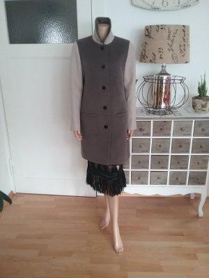 Coat grey brown-black brown