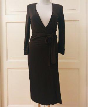 Diane von Furstenberg Vestido cruzado marrón-negro