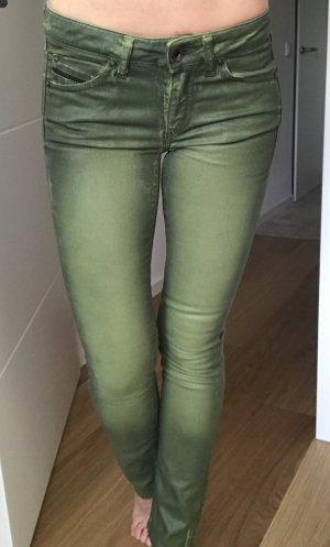 Diesel Black Gold Pantalone a vita bassa verde scuro