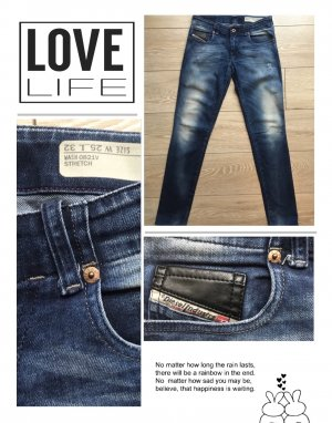 Original Diesel Röhren Jeans W 25 L 32
