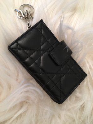 Christian Dior Kaartetui zwart-zilver