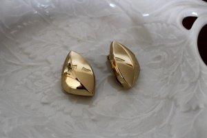 Original Dior Ohrringe (Clips) Goldfarben Vintage Modeschmuck Designer