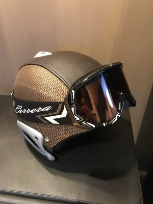 Original DIOR Skihelm und Carrera Skibrille
