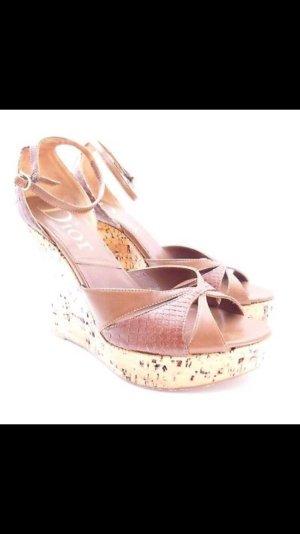 Dior Plateauzool sandalen veelkleurig Leer