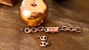 DKNY Montre avec bracelet métallique brun sable-jaune fluo métal