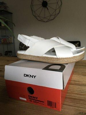 Original DKNY Bethune Jute Sandals White