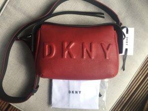 DKNY Sac bandoulière rouge foncé-noir cuir