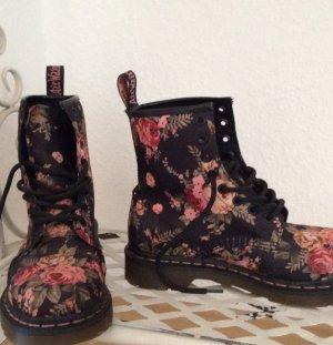 Original Doc Martens Airwear Black VICTORIAN FLOWERS 8 Eye Boot