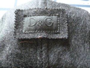 Dolce & Gabbana Chapeau d'aviateur gris foncé-gris clair laine