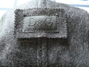 Dolce & Gabbana Vliegenierspet donkergrijs-lichtgrijs Wol