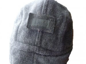 Dolce & Gabbana Aviator Hat dark grey-light grey wool