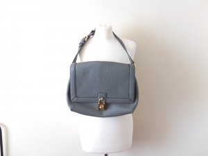 Original Dolce & Gabbana Handtasche Umhängetasche grau Leder