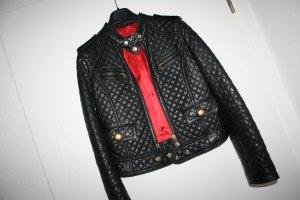 Dolce & Gabbana Veste en cuir noir-rouge cuir