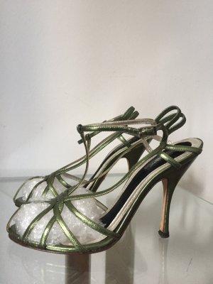 Original Dolce & Gabbana Leder Sandalen