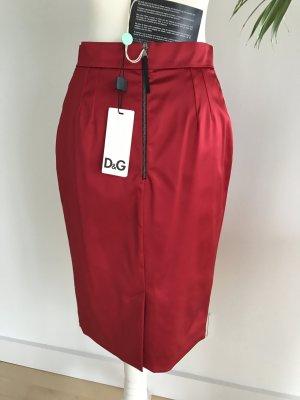 Original Dolce & Gabbana Pencilskirt Bleistiftrock 34 XS ROT NEU