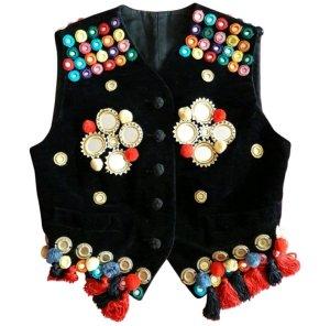 original Dolce & Gabbana Samt Coachella/Gibsy/Bohoo/Hippie Weste