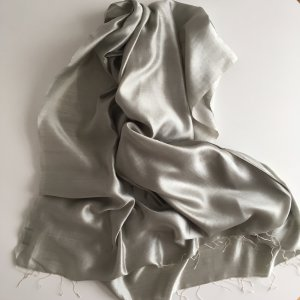 Dolce & Gabbana Silk Scarf sage green-silver-colored