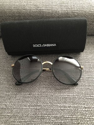 Dolce & Gabbana Round Sunglasses black-gold-colored