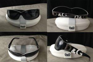 Dolce & Gabbana Gafas de sol cuadradas blanco-negro