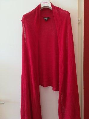 Original DONNA KAREN DKNY Longweste, leuchtendes Rot, Gr. M/L, Baumwolle