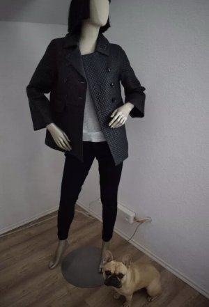 Dorothee Schumacher Leather Coat dark blue leather