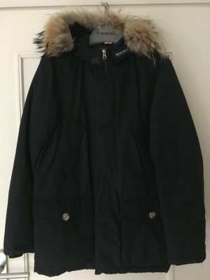 Woolrich Parka dark blue nylon