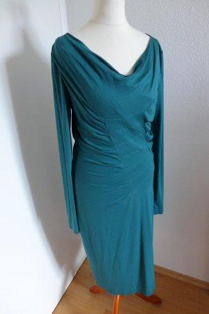 Original Esacda Kleid Langarm flaschengrün Gr.36 wie neu
